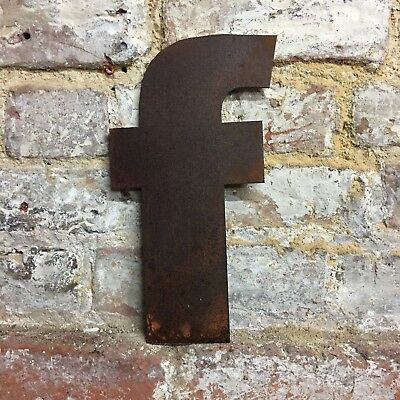 f LOWER CASE RUSTY METAL LETTERS SHOP HOME VINTAGE WORD RUSTIC INDUSTRIAL SIGN