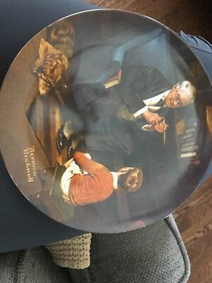 "Norman Rockwell Heritage Series ""The Tycoon"" Collector Plate"