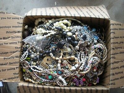 Large Junk Drawer Lot of Vintage and Modern Necklaces Beads Chains 14 Pounds
