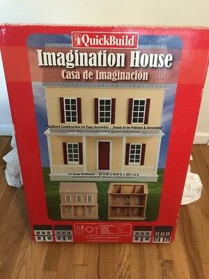 Quick Build Imagination House Doll House Kit Brand New