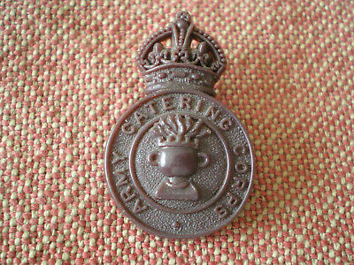 WW2 Army Catering Corps Plastic Bakelite Cap Badge by Stanley of Walsall