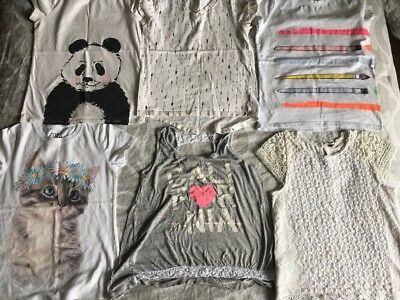 🎼Girls Tops Lot of 6 Girls tops- size 7/8 Cat & Jack - Kiddo- Poof Girls GUC