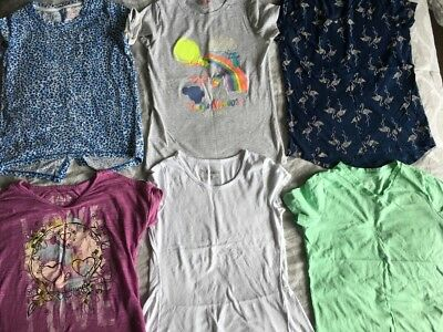🎼Girls Tops Lot of 6 Girls tops- size 10-12 Cat & Jack - Old Navy Mudd GUC