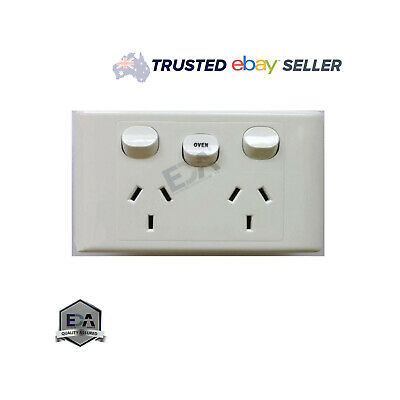 Double Power Point With 35 Amp Oven Switch Mech DGPO Socket Outlet