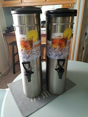 2 BUNN TDO-N-3.5 NARROW 3.5 GALLON ICED TEA DISPENSER Lot of 2! for Bunn Brewer