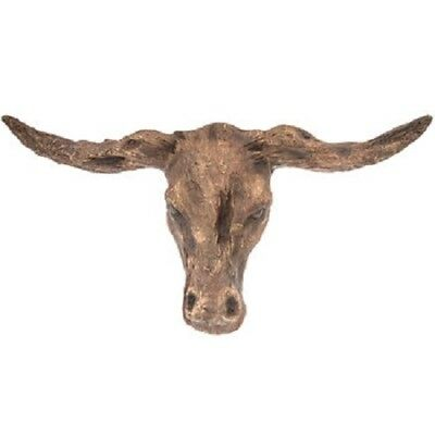 Carved Steer Head Wall Mount Ranch Decor, Cattle, Farmhouse Decor, Country Decor