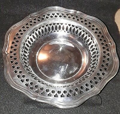 "RARE SHREVE CRUMP & LOW Sterling Silver G98 Pierced Bowl 121 grams over 7"" CLEAN"