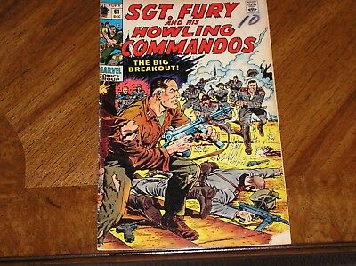 Sgt Fury And His Howling Commandos #61 1968 The Big Breakout 2.0 GD Condition