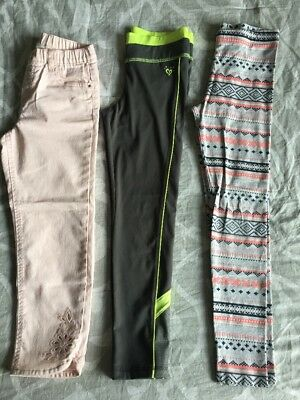 🎼 Girls Size 10 Lot of 3 Leggings-Pants- Activewear JUSTICE GYMBOREE H&M