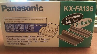 Genuine PANASONIC KX-FA136 Fax Toner / Replacement Ink Film 1 Roll Pack NEW