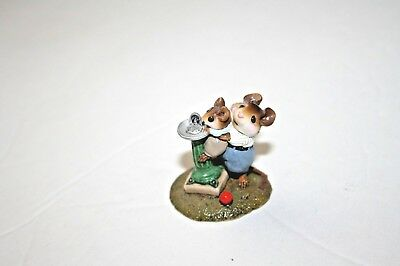Wee Forest Folk LITTLE SQIURT miniature mice m181 mouse WFF water fountain