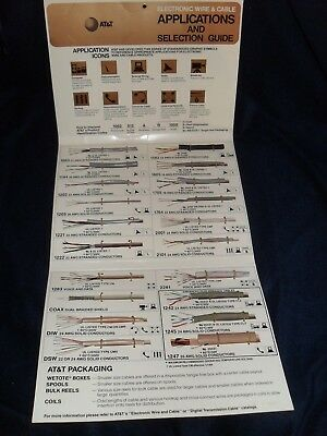 AT&T Applications Guide With Cable Samples From 1980's or 1990's