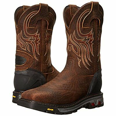 c6b2b5ad861 NEW JUSTIN SQUARE steel toe 12 inch high men's size 10D brown Cowboy ...