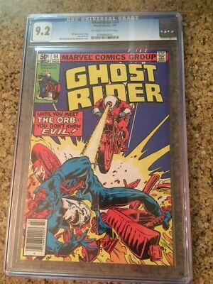 Ghost Rider # 54 CGC 9.2 off-white to white pages Bronze age Blue Label