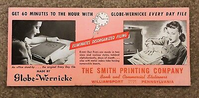 Smith Printing Company Williamsport PA Vintage Ink Blotter Advertisement
