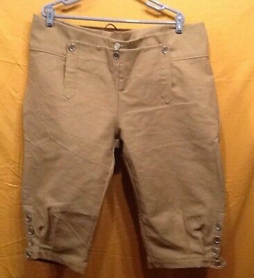 Knee Breeches, Size 39 Lt. Brown - Rendezvous, Mountain Man, Colonial, Pirate