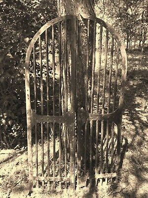 antique crypt gate Victorian architectural salvage wrought iron