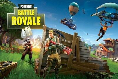Fortnite Battle Royale 24X36 Poster Gaming Fantasy Action Video Game Gift New!!!