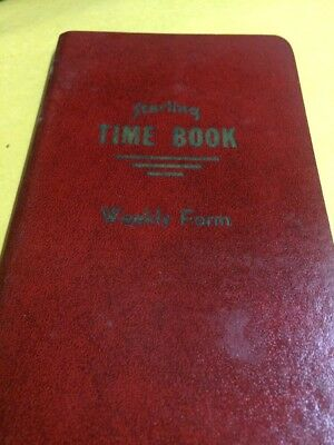 VINTAGE ANTIQUE  WEEKLY TIME BOOK w WAGE CHARTS from 25¢ to $1.75 per hour