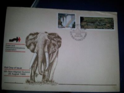 Zimbabwe 1986 8th non-aligned summit First Day Cover