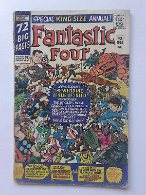 FANTASTIC FOUR King-Size Annual #3 Wedding of Sue & Reed Canadian Variant POOR