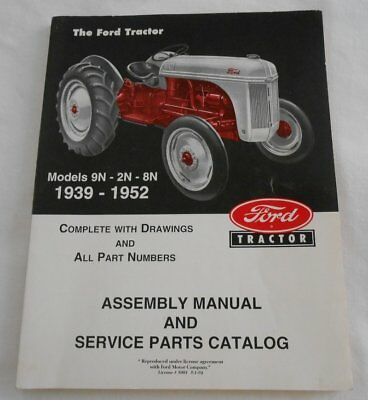 Assembly Manual Service Parts Catalog SC Book ~ Ford Tractor 2N 8N 9N 1939-1952