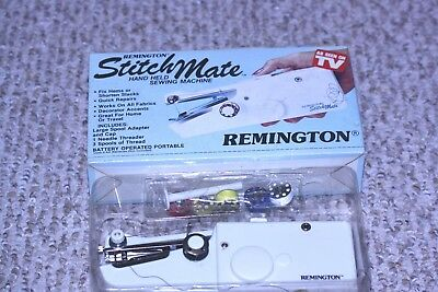 Vintage Remington Stitch Mate Hand Held Sewing Machine Battery Operated (4 AA)
