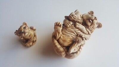 Lot of 2 Harmony Kingdom Tigers- Pride and Joy and Orange Crush with Boxes