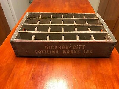 Dickson City Bottling Works Inc. Wooden Drink Crate * rare