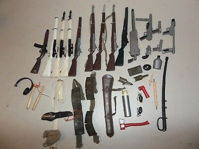 "Original Vintage Weapons Guns + A Lot Of Misc. For 12"" G.i. Joe Box Lot #7"