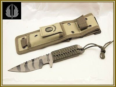 STRIDER Hunting Military Survival Tiger Stripe Fixed Blade OEM Knife with Sheath