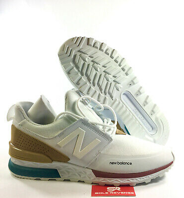 separation shoes 2ae36 78f8a NEW MENS (D) NB NEW BALANCE 574 SPORT - MEN'S White/Hemp Brown Green  MS574DTA