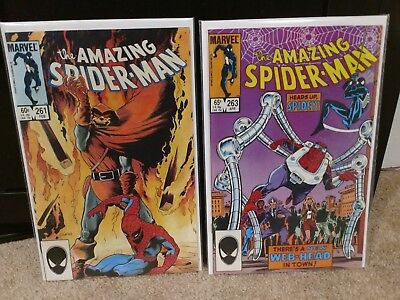 Amazing Spider-Man #263 + 261 Marvel Key 1St Normie Osborn