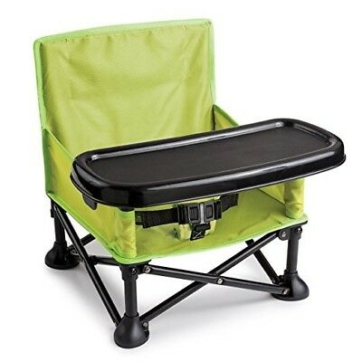 Summer Infant Pop and Sit Portable Booster, Green/Grey/Pink/Blue Carry Case WOW