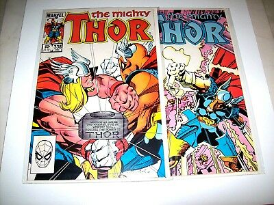 THOR (Vol.1) Lot of 2  #s 338,339 NM Condition (Original Owner) from 1983