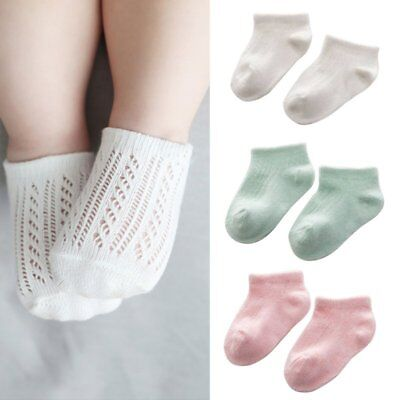 Infant Newborn Kids Soft Sock Toddler Baby Boy Girl Solid Cotton Socks 0-3 Y