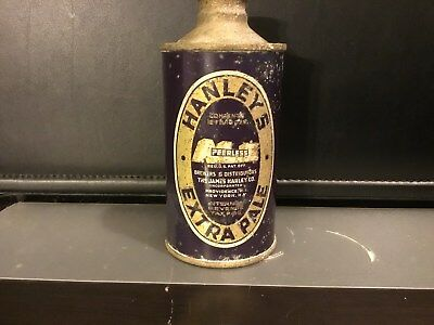 Hanleys Extra Pale (168-15) empty cone top beer can by Hanley, Providence, RI