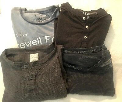 Lot of 4 Men's XXL (1 Is 2XLT) Long Sleeve & Short Sleeve T Shirts EUC