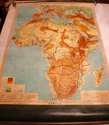 Devoyer-Gerpert Junior Political-Physical PULL DOWN GEOGRAPHICAL MAP OF AFRICA