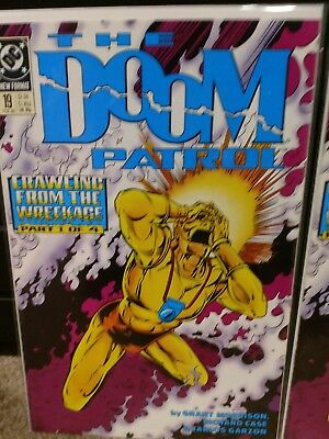 DOOM PATROL #19 comic book-1989 First appearance of CRAZY JANE X2 copies