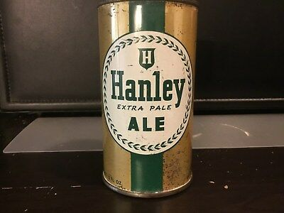 Hanley Pale Ale (80-6) empty flat top beer can by James Hanley, Providence, RI