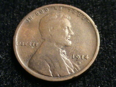 1914 D Lincoln Wheat Cent, key date       P1286
