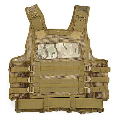 NEW Camo SWAT Combat Molle Plate Military Army Airsoft Tactical Vest Hunting