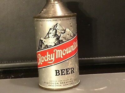 Rocky Mountain Beer (182-7) empty cone top beer can by Anaconda, Montana