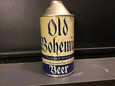 Old Bohemian Beer (175-28) empty cone top beer can by New Philadelphia, Ohio