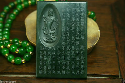 Chinese natural green hetian jade nephrite carved jade pendant - free necklace