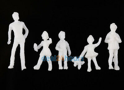1:100 Scale Architecture Model White Figures / People - Pack of 100 Mix Poses