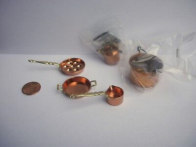 Artist Made Miniature Copper Items Getzan Dollhouse