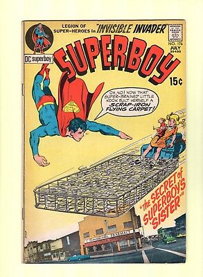 Superboy #176  --  Neal Adams cover!  --  5.0  VG/FN  cond.