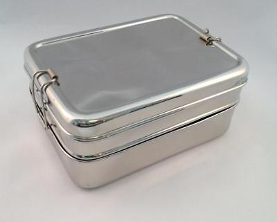 Green Essentials Three-in-One Sustain-A -Stacker Stainless Steel Lunch Box